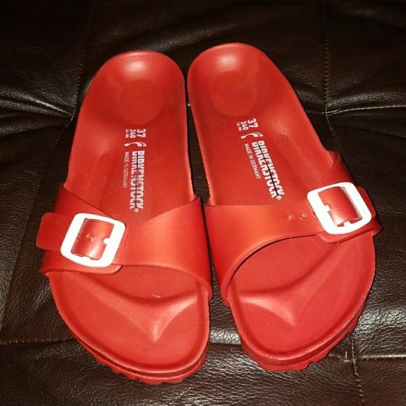 6c3cfaa597ea Birkenstock Shoes - Birkenstock Madrid Eva Red Women s Slide Sandals